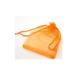 LOT 10 POCHETTES ORGANZA ORANGE