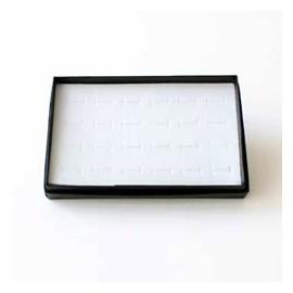 présentoir plateau baguier noir pour 100 bagues