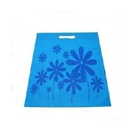 1 sac sachet tissu bleu clair