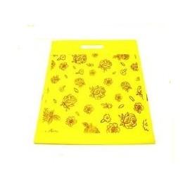 1 sac tissu fantaisie jaune