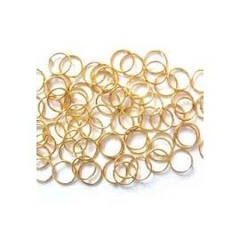 Lot de 100 anneaux de jonction jaune or