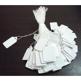 lot 100 etiquettes fil blanc