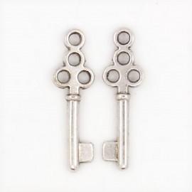"""Lot de 10 breloques pendentifs """"clé clef"""""""